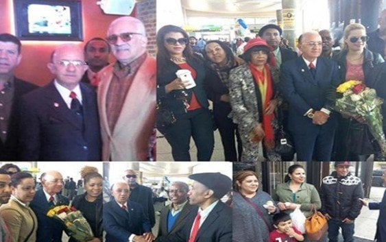 Exdirigentes PRSC en NY reciben Amable aeropuerto Kennedy