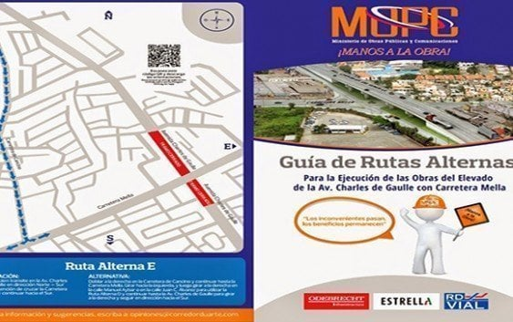 Obras Públicas inicia construcción Charles De Gaulle-Carretera Mella