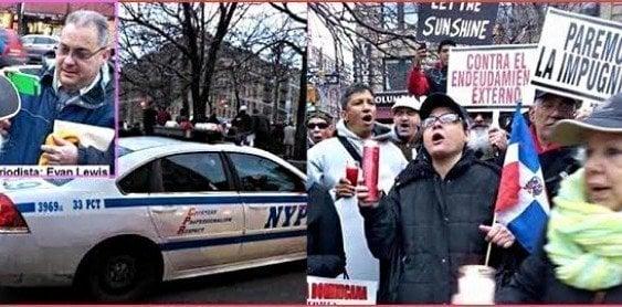 Partidos y grupos comunitarios Nueva York protestan impunidad RD