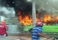 Fuego destruye instalaciones del transporte