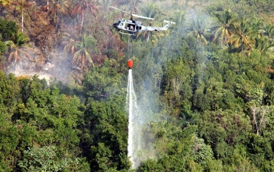 Fuerza Aérea contrarresta incendios forestales