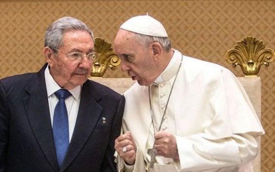 Papa recibió en el Vaticano presidente de Cuba