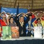 Scouts y embajada Japón hacen mil grullas por la paz