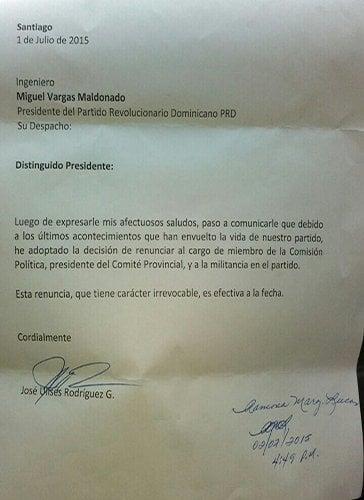 CARTA RENUNCIA PRD