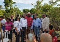 Inauguran red distribudora de agua en Villa Hermosa