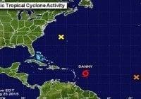 El NHC advierte sobre vientos y lluvias de Danny sobre islas