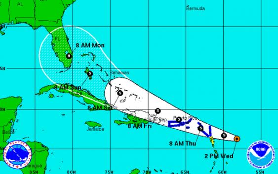 Erika pasaría mañana por RD; traería fuertes lluvias