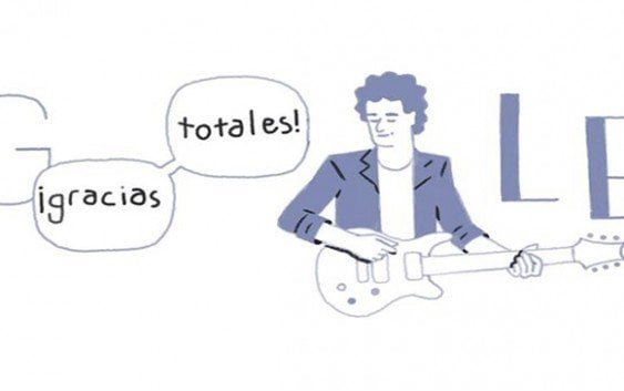 'Doodle alusivo a cumpleaños desaparecido Gustavo Cerati