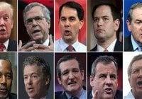 Todos contra Donald Trump en primer debate electoral