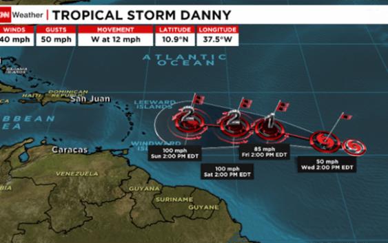 Danny podría convertirse en primer huracán