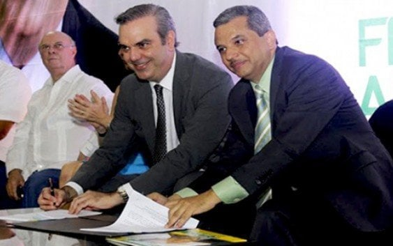 Frente Amplio proclama a Luis Abinader su candidato