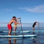 Primera competencia de Paddelboard en costas de Barahona