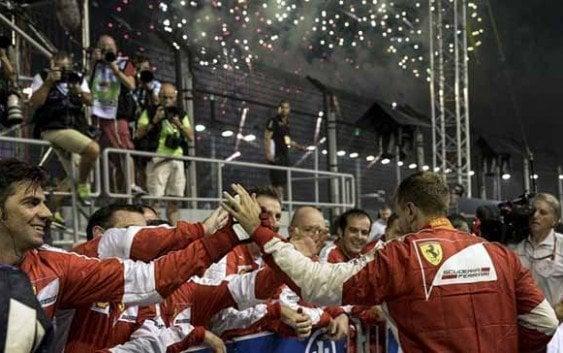 Sebastian Vettel se impuso Gran Premio Singapur