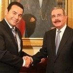 Presidente electo Guatemala visita a Danilo Medina