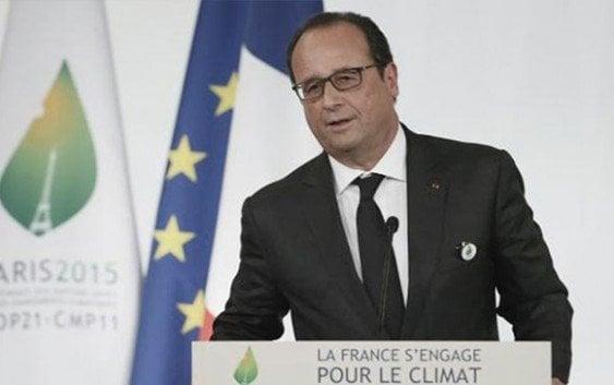 Hollande inicia Cumbre Cambio Climatico invitando a pensar el planeta es un espacio único