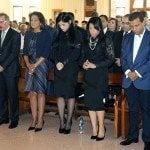 Presidente asiste misa novenario Juan de los Santos