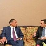Canciller Andrés Navarro se reune con homólogo de Trinidad y Tobago