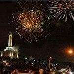 Presidente recibe 2016 desde el Monumento de Santiago