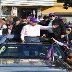 Muere joven al caer de camioneta en caravana Danilo Medina