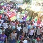 Manuel Jiménez realiza gran marcha-caravana