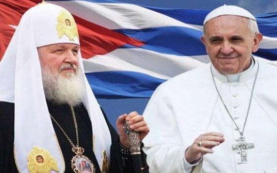 Papa Francisco se reune en Cuba con Patriarca Kiril, de iglesia ortodoxa rusa