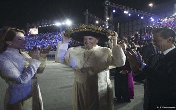 Mensaje de Su Santidad, Papa Francisco, a su llegada a México