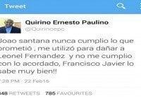 Escribe que João Santana lo contrató y Francisco Javier lo sabe