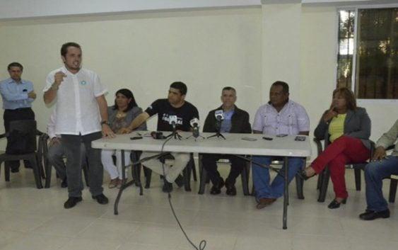 Dío Astacio, José Vásquez, Manuel Jiménez y Rafael Rosso en huelga de hambre