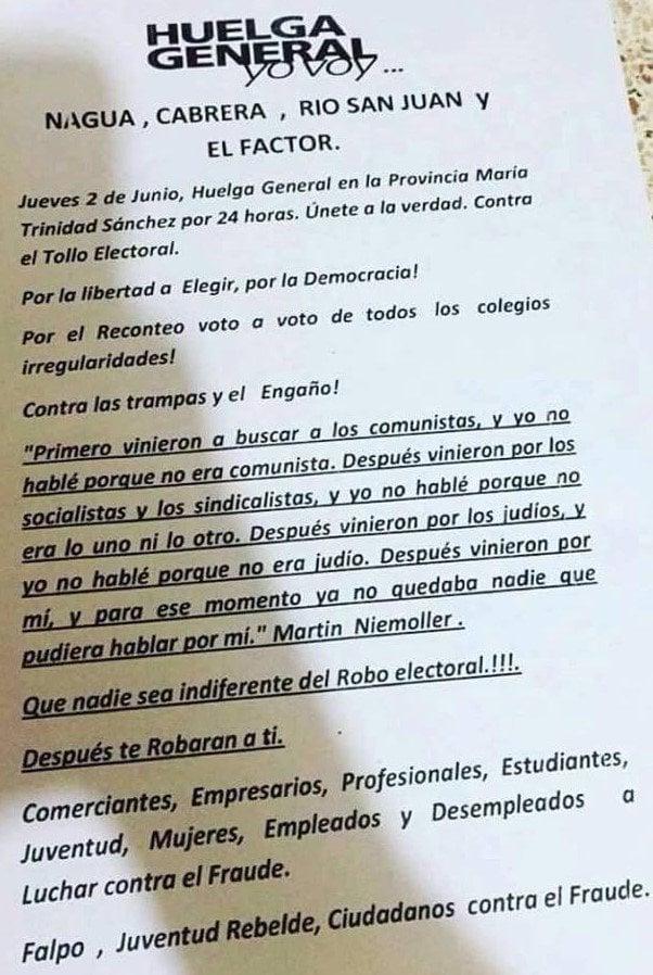 HUELGA -NAGUA...