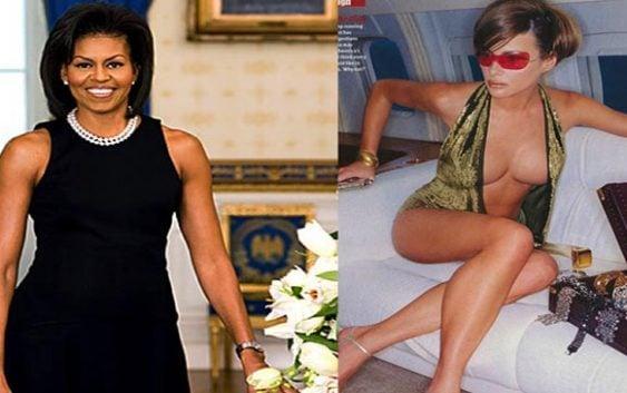 A Michelle por mostrar brazos, pero, y Melania…??? Comparen fotos