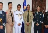 Agregados Militares en República Dominicana visitan al Ministro de Defensa