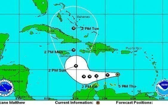 Matthew se convierte en huracán; Traerá lluvias a RD