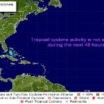 Centro Nacional de Huracanes espera baja presión; Onamet alerta por lluvias
