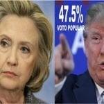 Con Hillary quinta vez que ganando voto popular no llegan a la Casa Blanca