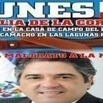 «Vigilia de la correa»; Este lunes en casa de campo diputado Camacho