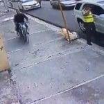 Peste: Delincuente asalta ante presencia de agente de Amet; Vídeo