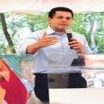 David Collado entrega remozado a Cristo Rey el parque Divino Niño