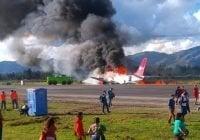 Tras incendio avión restablecen operaciones aeropuerto de Jauja en Perú