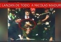 Maldito, Maldito, a Maduro, mientras le lanzan piedras y huevos; Vídeos