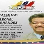 Mañana exilio venezolano convoca protesta contra Leonel Fernández; Vídeos