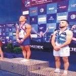 Llega hoy Audrys Nin Reyes ganador Oro en Copa Mundial Gimnasia en Croacia; Vídeos