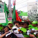 Marcha Verde Cristo Rey exige inclusión Danilo, Hipólito y Leonel en expediente; Vídeo