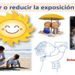 Onamet sugiere ingerir líquidos (agua), evitar rayos del sol, utilizar protector solar y ropa ligera colores claros