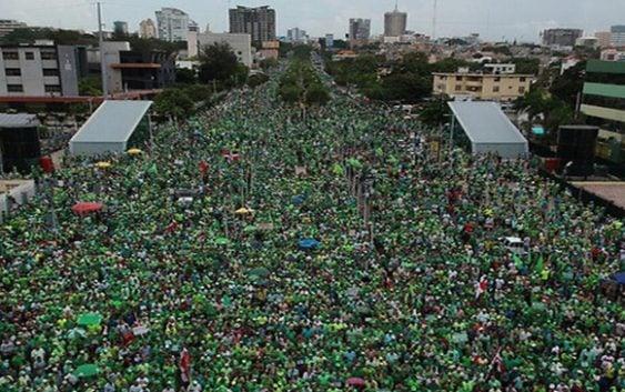 Marcha Verde exige sometimiento a Danilo Medina; Dice Montás lo señala como beneficiario; Vídeo