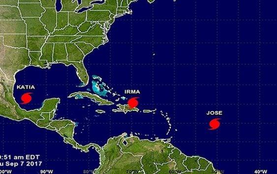 Centro Nacional de Huracanes: José va tras lo que dejó Irma; Katia amenaza a México