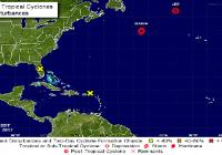 Centro Nacional de Huracanes: No hay ciclones tropicales; Lee, ciclón Post-tropical y María, tormenta tropical