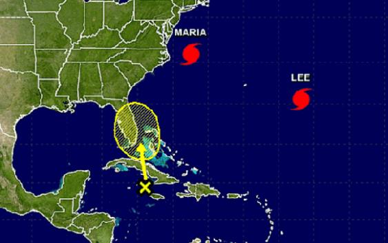 Centro Nacional de Huracanes: Emite alertas sobre huracanes María y Lee y vaguada