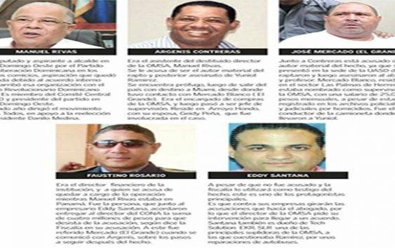 A la cárcel cuatro cómplices de la banda de la OMSA que asesinó a Yuniol Ramírez
