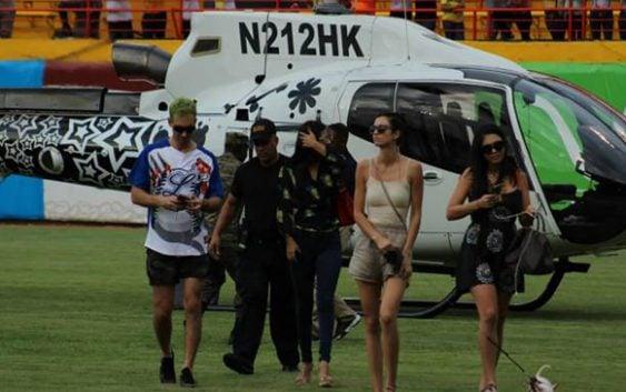 Aunque se aproveche desorden, Águilas autorizaron aterrizaje helicóptero Karim en estadio Cibao; Vídeo
