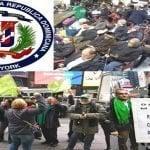 Con la consigna «nosotros aquí mandando y allá robando» Marcha Verde protesta en NY